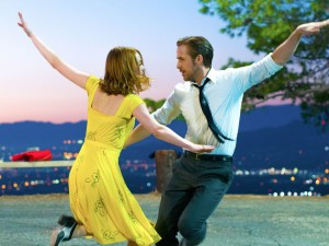 """Con Emma Stone in """"La La Land"""""""