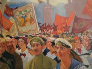 Kustodiev. Demonstration in Uritsky Square (detail). Photograph © www.foxtrotfilms.com