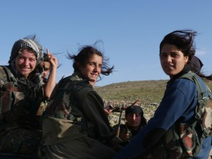 Some kurds guerrilla women in Sinjar